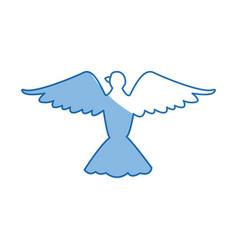 bird pigeon freedom peace wings open vector image