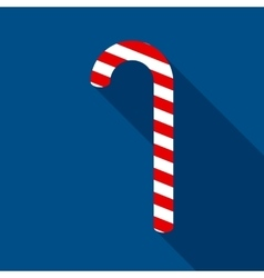 Christmas Candy Cane in Flat Style vector image vector image