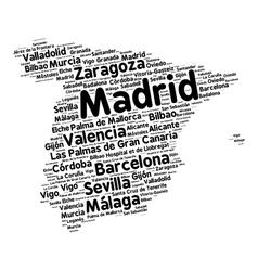 Cities of Spain word cloud vector image