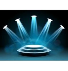 Hollywood lighting stage for performance vector image