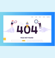 404 maintenance error landing page template vector