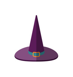 a cartoon halloween witch vector image