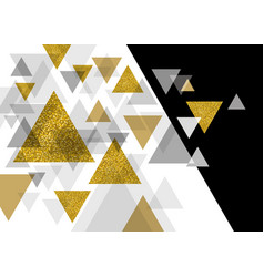 abstract luxury background design of triangle vector image