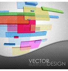 Abstract rectangle background vector