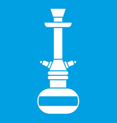 Arabic hookah icon white vector