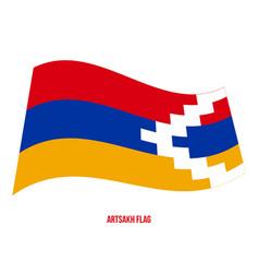 Artsakh flag waving on white background vector