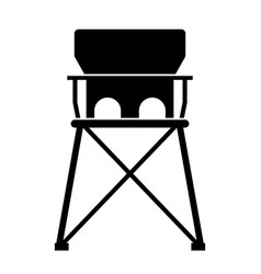 baby portable travel high chair vector image