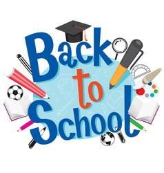 Back To School With Stationery vector image