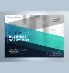 Brochure design for your business vector