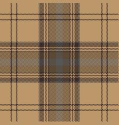 Brown plaid check tartan seamless pattern vector