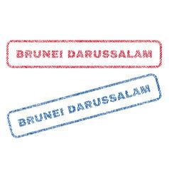 Brunei darussalam textile stamps vector