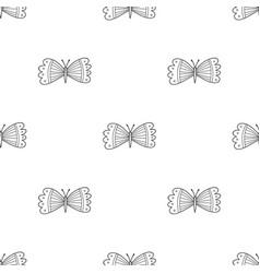 Butterflies seamless pattern in boho style vector