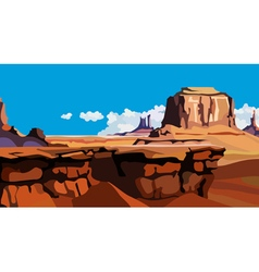 Cartoon red rock canyon vector