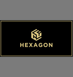 cf hexagon logo vector image