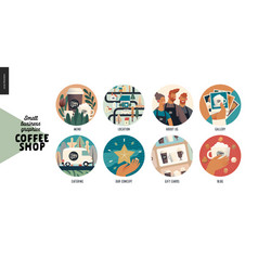 coffee shop - small business graphics - web icons vector image