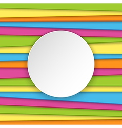 Colorful striped background with place for text vector image