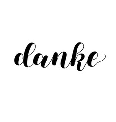 danke thank you in german hand drawn vector image