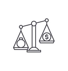 debentures line icon concept debentures vector image