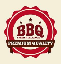 delicious barbecue vector image