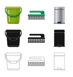 design of cleaning and service logo vector image