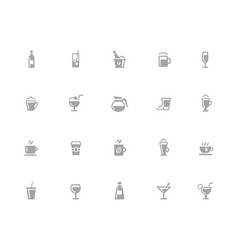 drinks icons 32 pixels icons white series vector image