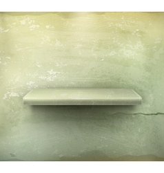 Empty shelf vintage background vector image