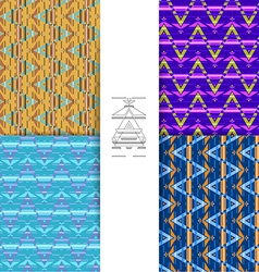 Ethnic abstract pattern background vector
