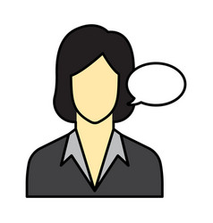 Flat color secretary icon vector