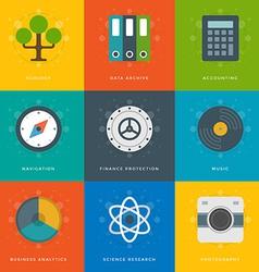 Flat design icons vector