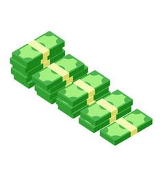 Flat icon money stacks banknotes vector