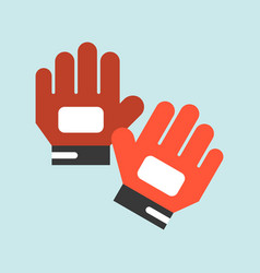 Goal keeper gloves flat icon soccer related vector