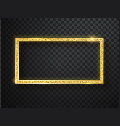 gold shiny frame on a transparent background vector image