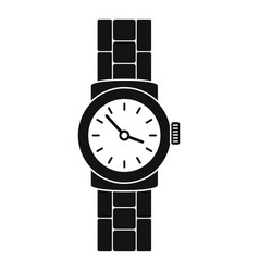 Gold watch icon simple style vector