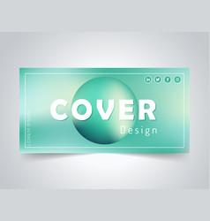 Green abstract banner design facebook banner abs vector