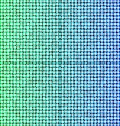 Green and blue pixel mosaic background vector