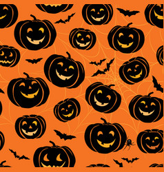 halloween seamless pattern holiday ornamental vector image