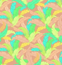 Hand drawn boho seamless pattern with colored vector