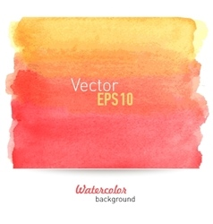 Hand-drawn water-color background vector