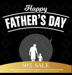 happy fathers day background free vector image