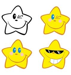 Happy little stars vector