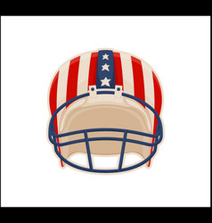 helmet for american football sport color poster vector image