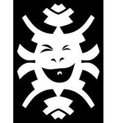 Hipster element Crazy smiling face on black vector