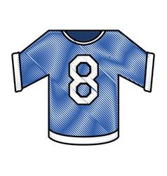 Hockey uniform shirt design vector