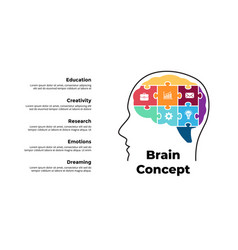 human puzzle brain infographic generating new vector image