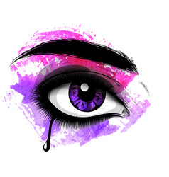 Image of tears in the eyes vector