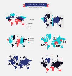 Infographics about the trend of population status vector