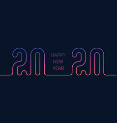 invitation to new year party 20 20 cover vector image