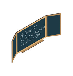 isometric chalkboard vector image