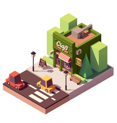 Isometric craft beer bar vector