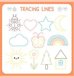 Kindergartens educational game for kids preschool vector